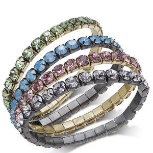 INC Crystal Bracelet Set 4 Bangles